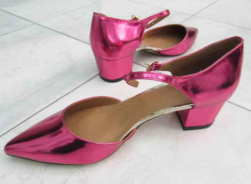 Pink metallic shoes from Asos