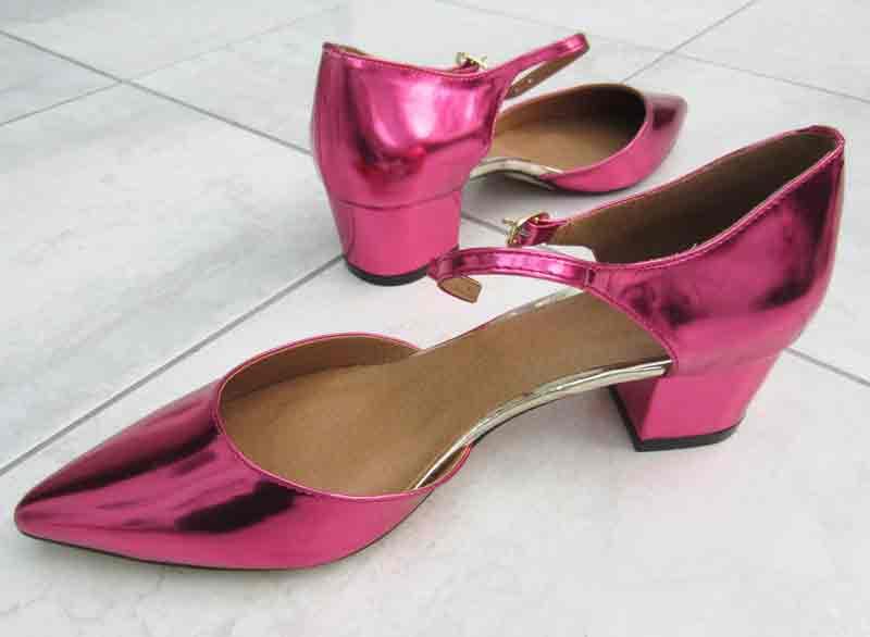 Pink metallic shoes from Asos