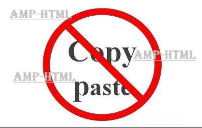 Membuat Anti Copas (Copy Paste) Blog Valid AMP