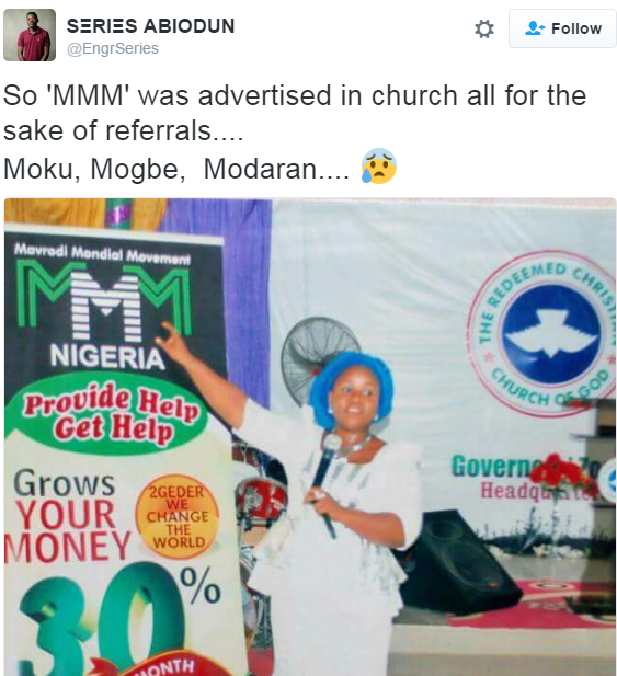 Redeemed Christian Church Of God Causes Stir As They Advertises MMM In Church
