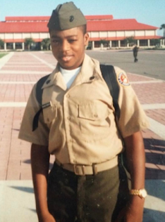 Billionaire son, Paddy Adenuga, shares photo from his days as a Marine Military student