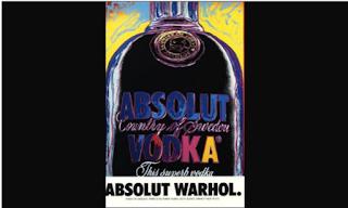 Nunha botella de vodka