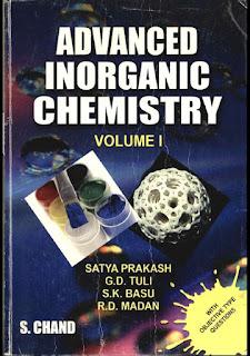 Advanced Inorganic Chemistry Volume I by Satya Prakash