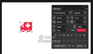 Cara Input Ikon Font Awesome Di Adobe Photoshop Dan Illustrator