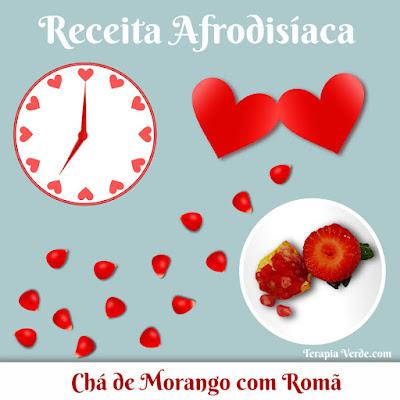 Receita Afrodisíaca: Chá de Morango com Romã