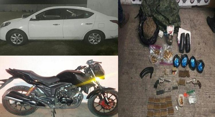 Cae célula criminal con droga, armas y vehículos robados en Michoacán