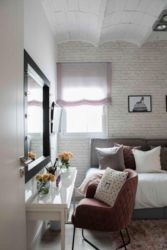 Decoración de habitación de invitados de estilo industrial