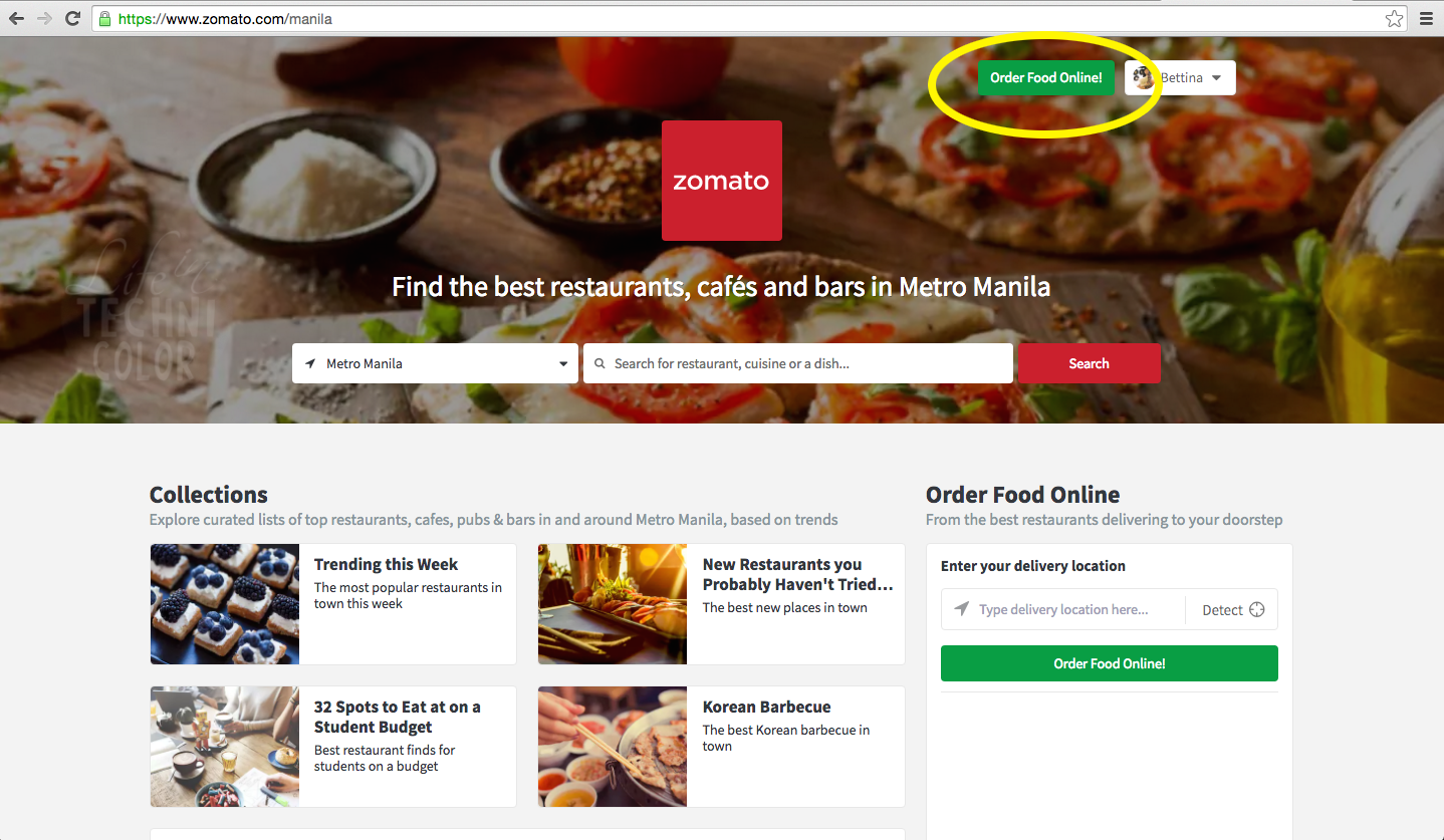 Zomato order food online life in technicolor you could just type the latter haha then click the order food online button located on the upper right part of the page forumfinder Image collections