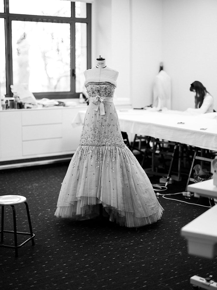 The dress was entirely remade for the movie in the CHANEL ateliers, and it required a total amount of 1034 hours of work