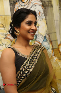 Actress Regina Stills in Green Saree at Vivaha Bhojanambu Restaurant Launch  0115.JPG