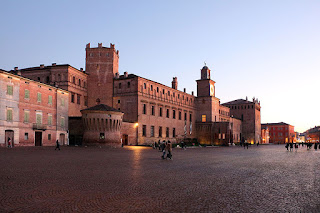 The Castello del Pio on Piazza Martiri in Carpi, one of the largest public squares in Italy