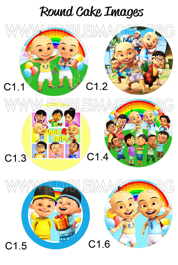 S shaped cake images prezup for edible image cake upin ipin stopboris Choice Image