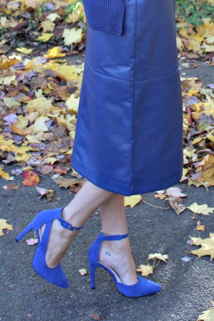 eva mendes collection blue suede heels