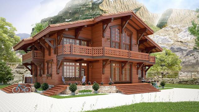nhà gỗ biệt thự