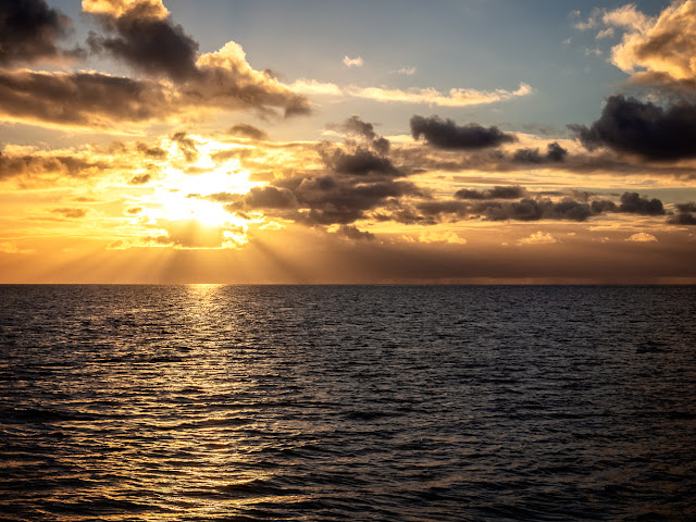 Photo of sunset on the Solway Firth on Tuesday