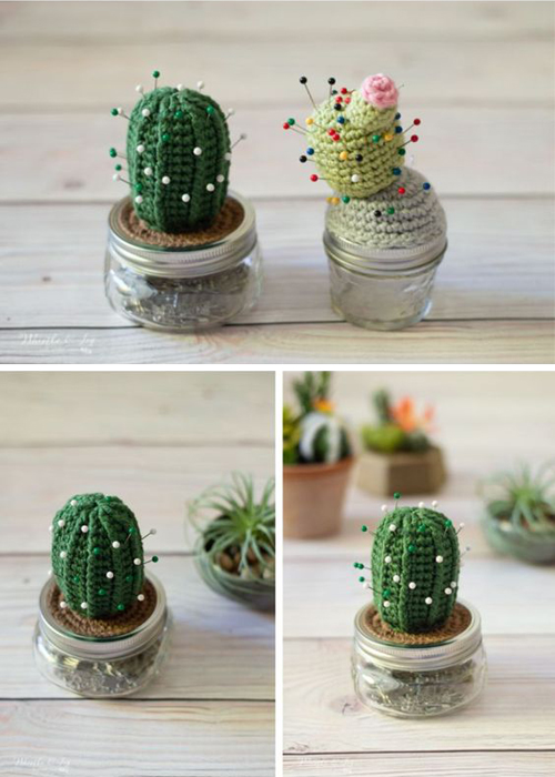 Crochet Cactus Pincushion - Free Crochet Pattern