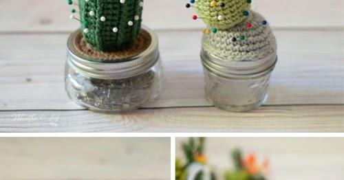 Items similar to Crochet Cactus Pincushion, Mini Cactus, Amigurumi ... | 262x500