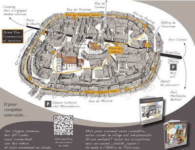 Plano de Eguisheim, Alsacia, Francia