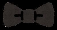 蝶ネクタイのイラスト(黒)