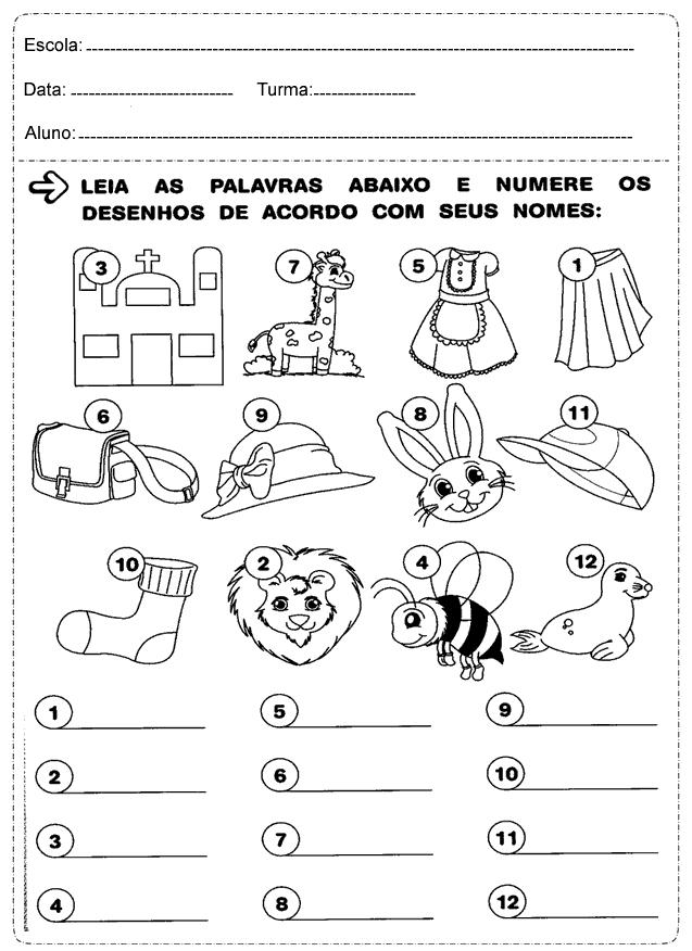 Suficiente Atividades de Português 2° ano Ensino Fundamental — SÓ ESCOLA SC18