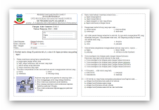Soal UAS Bahasa Indonesia KTSP Kelas 3 Semester 1