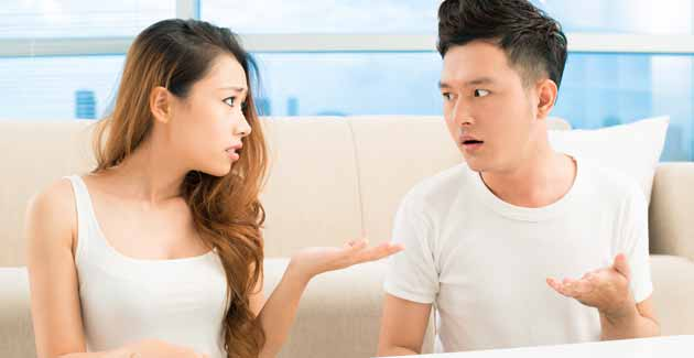 homem discutindo mulher discussão