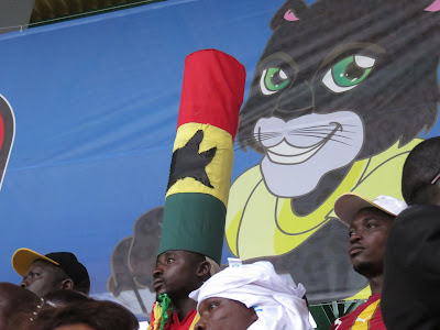 Ghana fan at Afcon 2017.