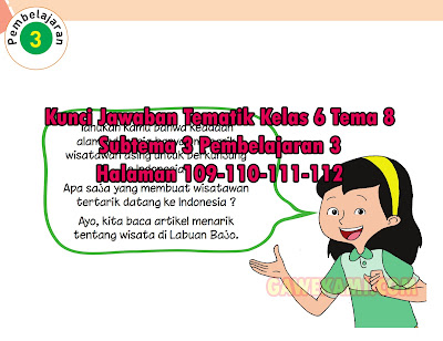 Kunci Jawaban Buku Siswa Tema 8 Kelas 6