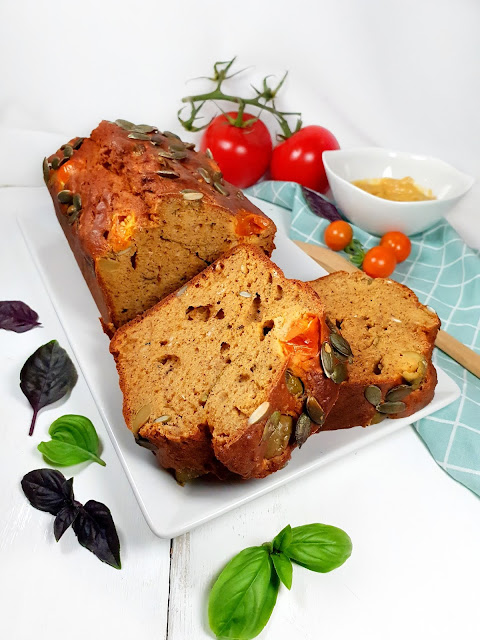 cake tomates/basilic, sans gluten