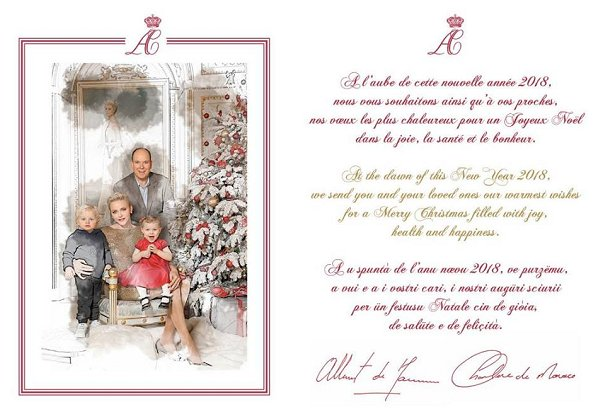 Prince Albert and Princess Charlene and their twins Prince Jacques and Princess Gabriella