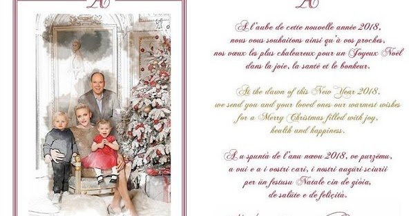 2017 christmas greeting card of princely family of monaco. Black Bedroom Furniture Sets. Home Design Ideas
