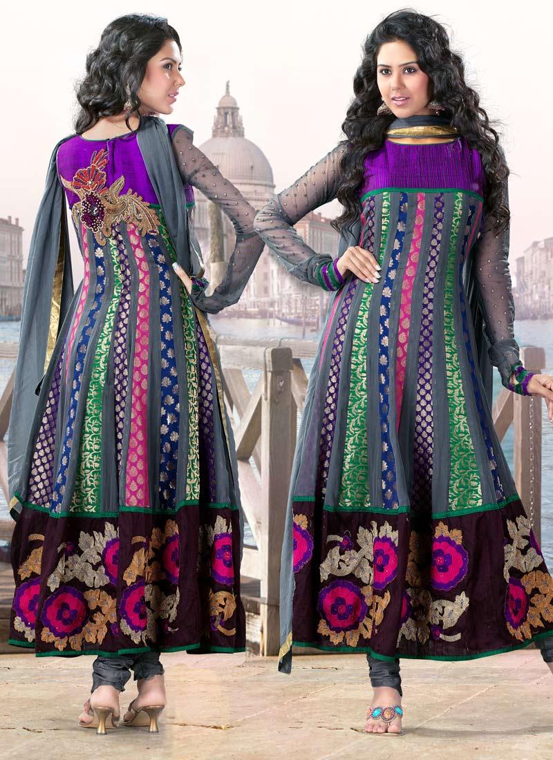 Welcome To Fashion Forum: Multi Color Fashion Dress