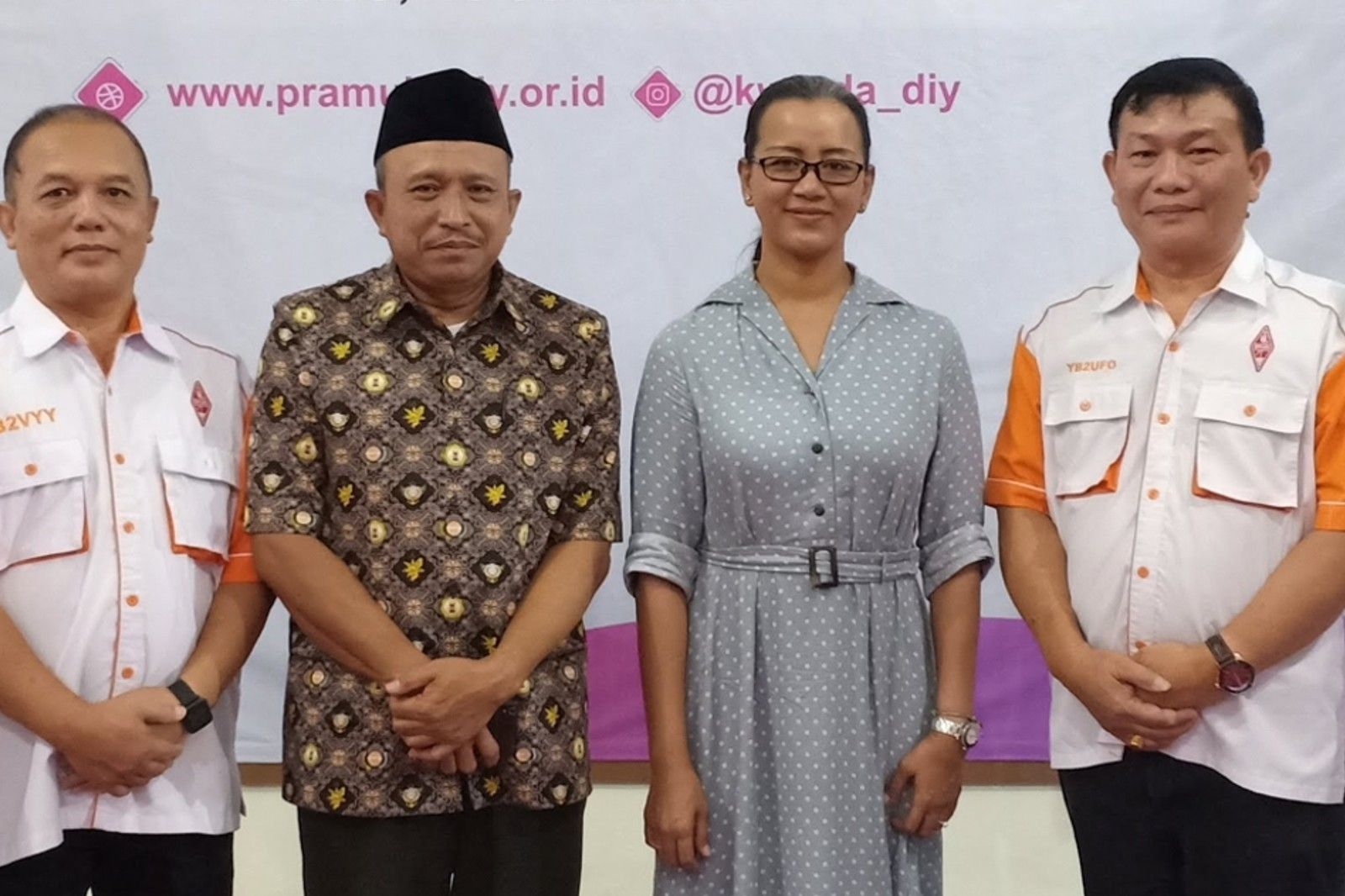 Bersama Ketua Kwarda DIY Gusti Kanjeng Ratu Mangkubumi