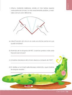 Apoyo Primaria Desafíos Matemáticos 4to. Grado Bloque II Lección 36 El transportador