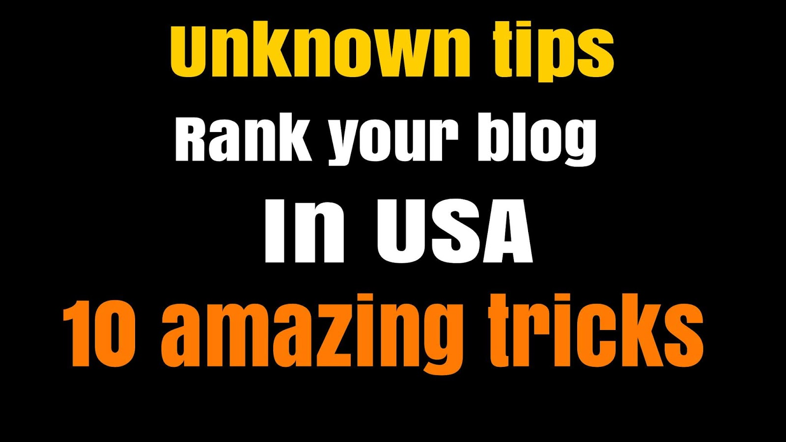 Rank your website in USA