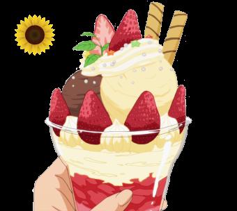 render Working! - Strawberry Parfait
