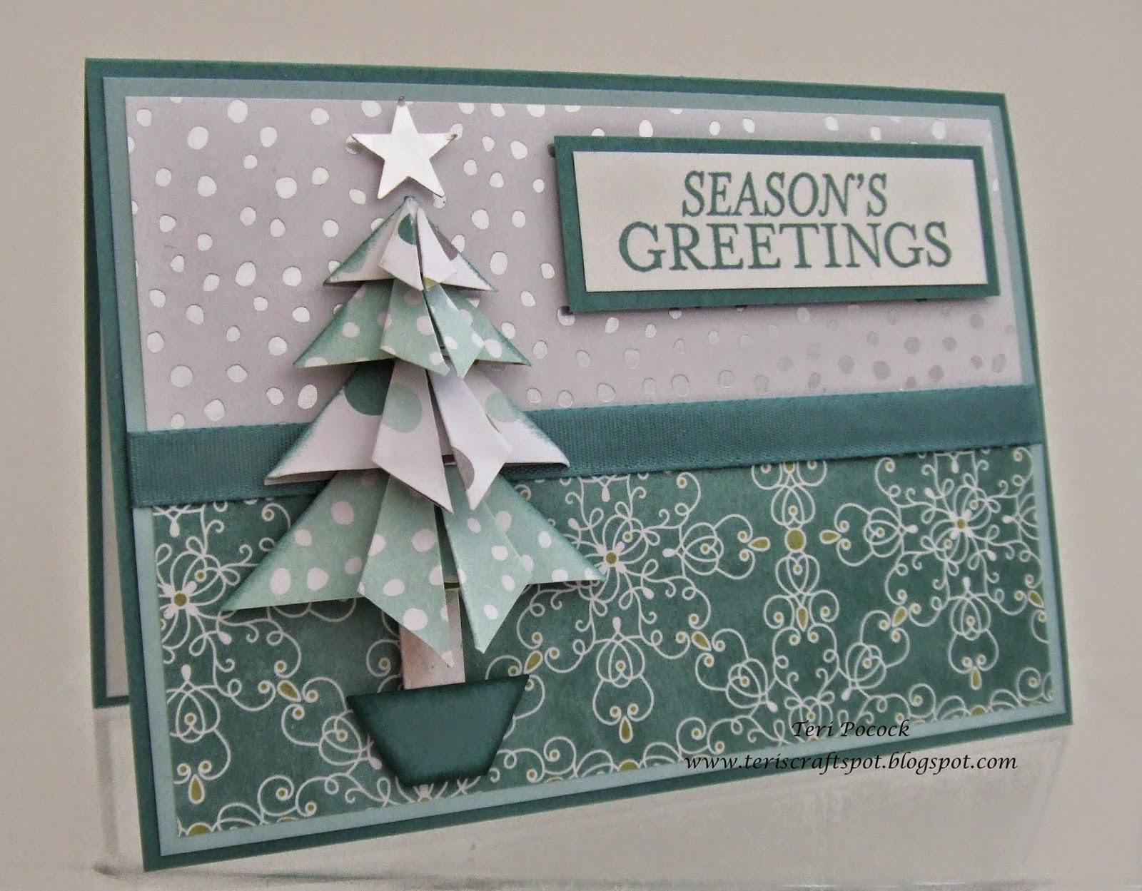 Easy To Make Origami Christmas Tree And Christmas Greeting Cards ... | 1249x1600