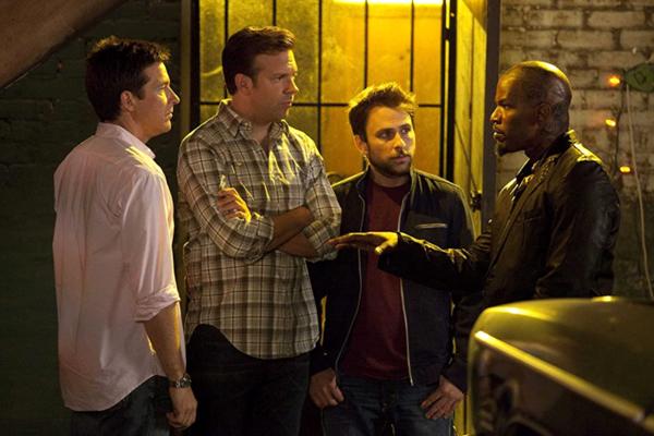 With the help of Dean 'Motherf*cker' Jones (Jamie Foxx), Nick Hendricks, Kurt Buckman and Dale Arbus hatch a plan to whack their bosses in HORRIBLE BOSSES.