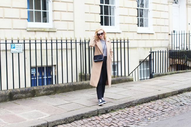 UK, Fashion, Blogger, OOTD, Outfit, Styling, Camel, Coat, Duster, Vans, OldSkool, Missguided, Primark, Céline