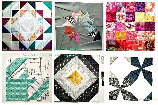 Puppilalla, Bee Block, free quilt block pattern, quilting bee
