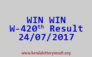 WIN WIN Lottery W 420 Results 24-7-2017