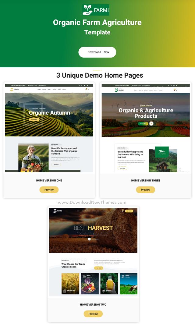 Organic Farm Agriculture Template