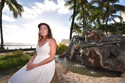 Statue in Waikiki