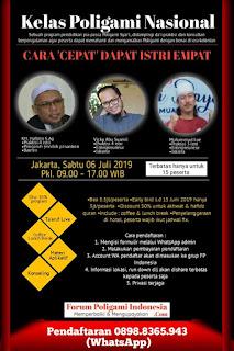 Kelas Poligami di Jakarta  Juli 2019