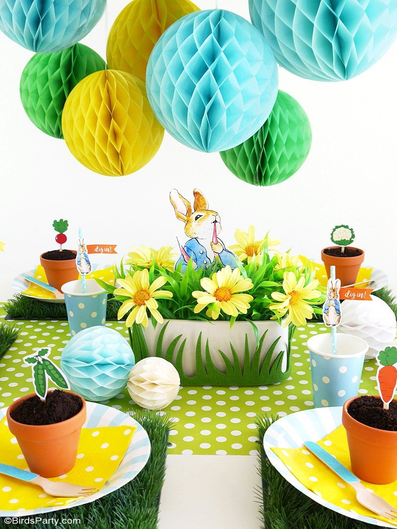 a peter rabbit spring party with free printables party ideas