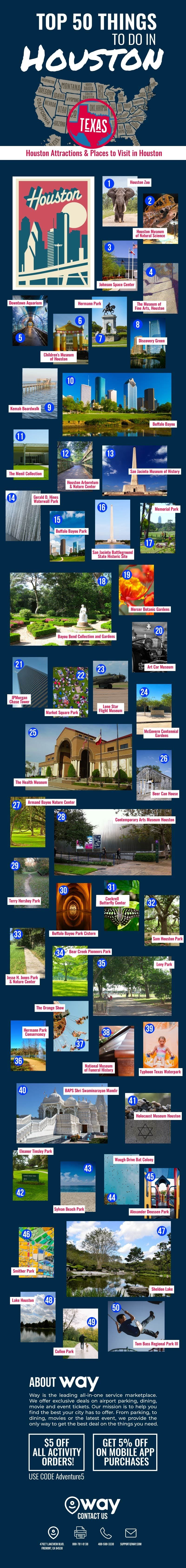 Top 50 Things to Do in Houston #infographic