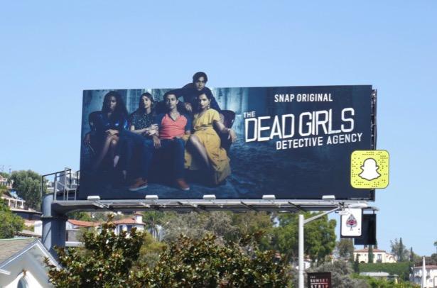 Dead Girls Detective Agency season 3 Snap billboard