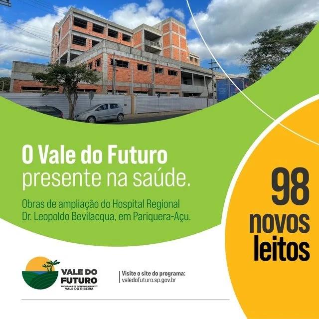 Vale do Futuro investe na ampliação do Hospital Regional Dr. Leopoldo Bevilacqua