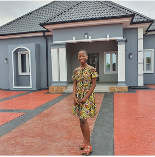 Emmanuella builds her mother a beautiful house