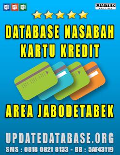 Jual Database Nasabah Kartu Kredit Jabodetabek